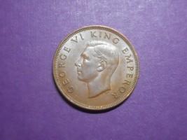 NEW ZEALAND - BRONZE - 1/2 PENNY - 1942 - $14.00