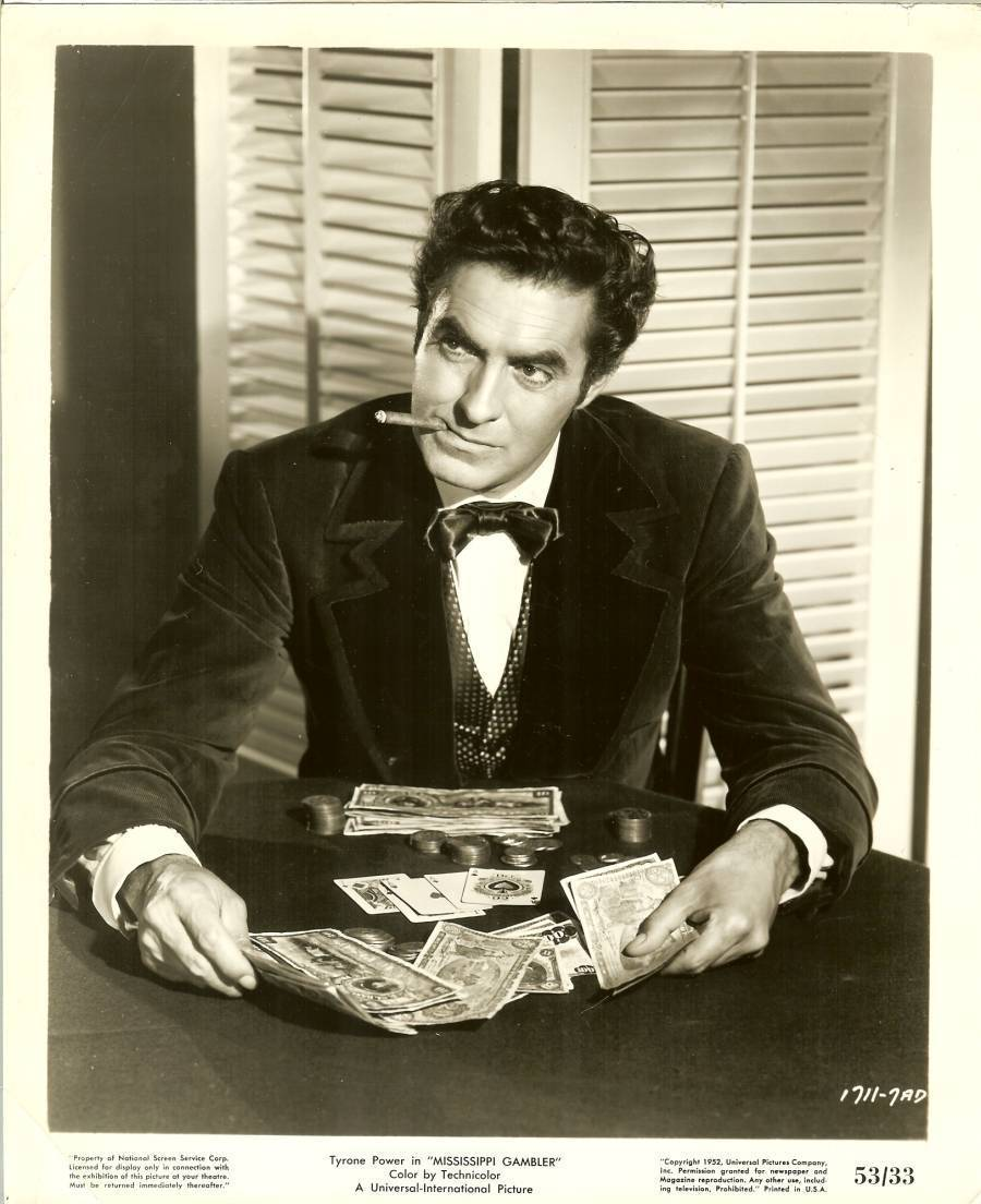 Primary image for 1932 tyrone powers original lobby card photo  movie mississippi gambler rare