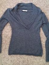 Old Navy dark gray heathered sweater v-neck long sleeves womens M  - $13.99