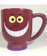 HUGE Disney Cheshire Purple Cat Alice in Wonderland Coffee Cup Mug Kitty Striped - $18.79