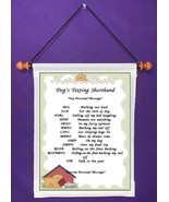 Dog Texting Shorthand - Personalized Wall Hanging (892-1) - $18.99
