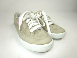 Polo Ralph Lauren Sneakers Tan Canvas Womens Size 6 B Lace Up Boat Shoes Khaki  - $15.33 CAD
