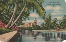 Roney Plaza Hotel Miami Beach Florida FL Postcard Linen Colourpicture - $3.34