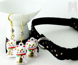 Earring & Collar Set with Neko Bells (Deluxe) - Lunar New Year SALE - $20.00