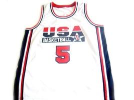 David Robinson #5 Team USA BasketBall Jersey White - Any Size image 1