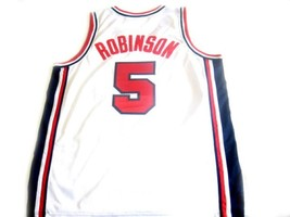David Robinson #5 Team USA BasketBall Jersey White - Any Size image 5