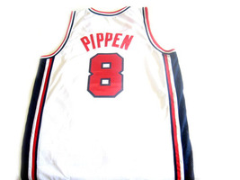 Scottie Pippen #8 Team USA BasketBall Jersey White Any Size image 2