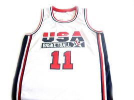 Karl Malone #11 Team USA BasketBall Jersey White Any Size image 4