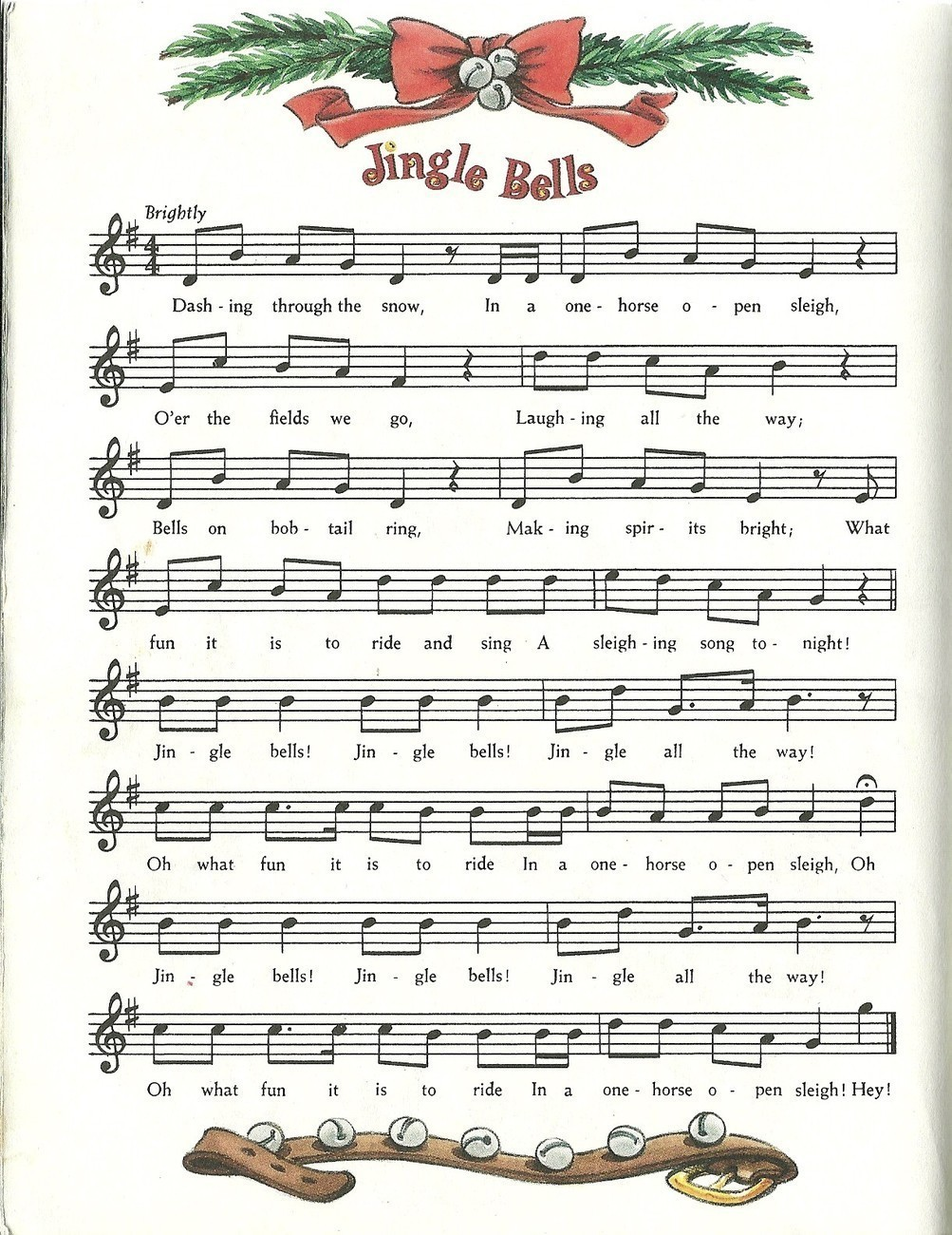 Jingle Bells Diane Muldrow Hardcover Little Golden Book 1st Edition