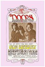 Doors  Jim Morrison Iron Butterfly at Berkeley Poster 1969 - $13.95