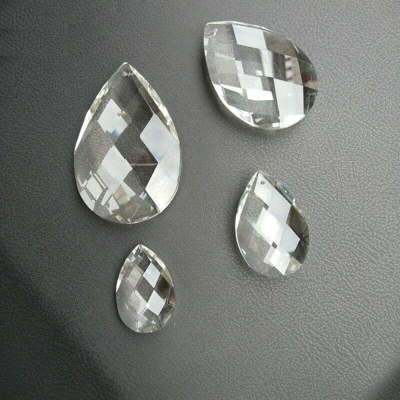 10pcs 38/50/63/76mm Optical Net Pendants Crystal Prisms Chandelier Lamp Parts - $13.71 - $24.68