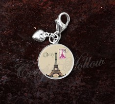 925 Sterling Silver Charm Paris French France Eiffel Tower Stamp - $25.25