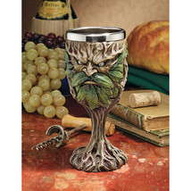 8 oz Stainless Steel Dishwasher Safe Greenman Grendal Tree People Goblet... - $54.40