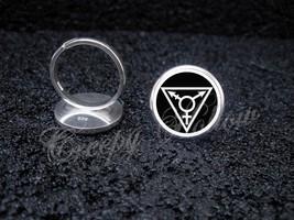 Sterling Silver Choose Color Transgender LGBT Gay Lesbian Symbol Adjusta... - $39.00