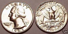 1989-P GHEM UNC WASHINGTON QUARTER~SCARCE~FREE SHIPPING - $3.66