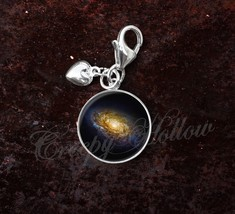 925 Sterling Silver Charm Berenice Galaxy ngc 4414 Astronomy Space - $25.25