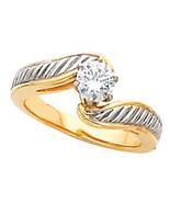 Round Diamond 14K Engagement Ring 1 Ct D-E SI EGL (C10) - $4,888.00