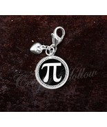 Sterling Silver Charm Pi π Symbol Choose A Color Mathematics - $30.50