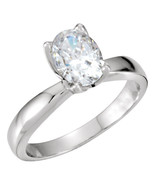 Oval Diamond Engagement Ring 0.5 Ct I I1(CLARITY ENHANCED) - $612.00