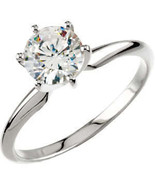 Round Diamond Engagement Ring 1 Ct G-H SI EGL Cert 14K - $4,192.00