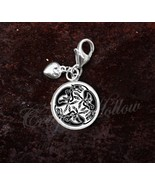 925 Sterling Silver Charm Celtic Cat Art Feline Animal Image - $30.50