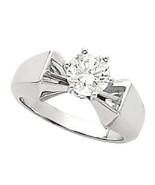 Round Diamond 14K Engagement Ring 1 Ct D-E SI EGL (C8) - $4,767.00