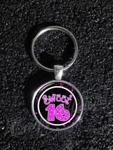 Sweet 16 Celebration Party Sixteen Teen Teenage Birthday keychain - $11.39