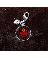 Sterling Silver Charm Choose Quote Dracula Order of Dragon Vampire - $30.50