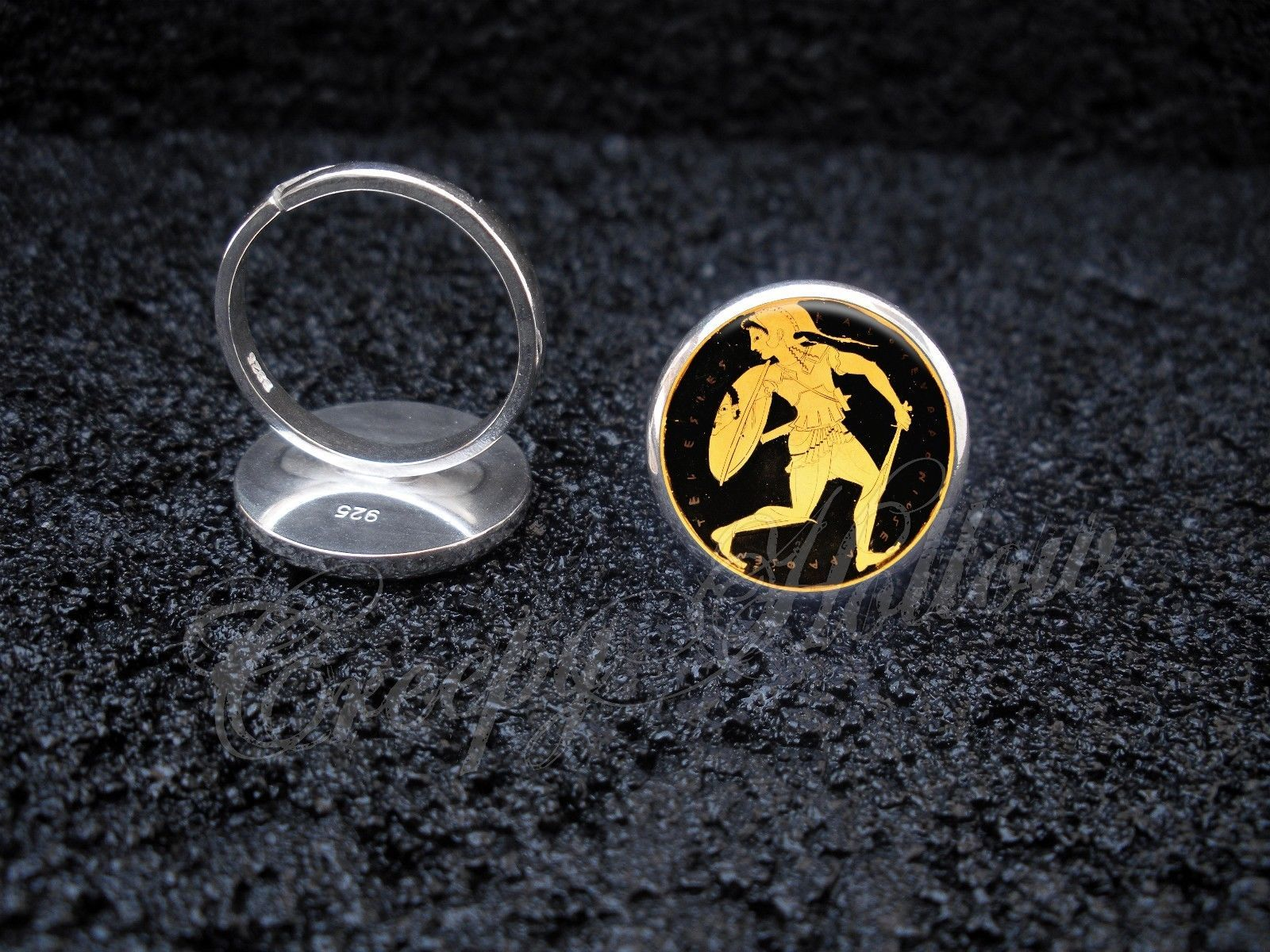 Primary image for 925 Sterling Silver Adjustable Ring Ancient Greek Amazon Warrior Woman