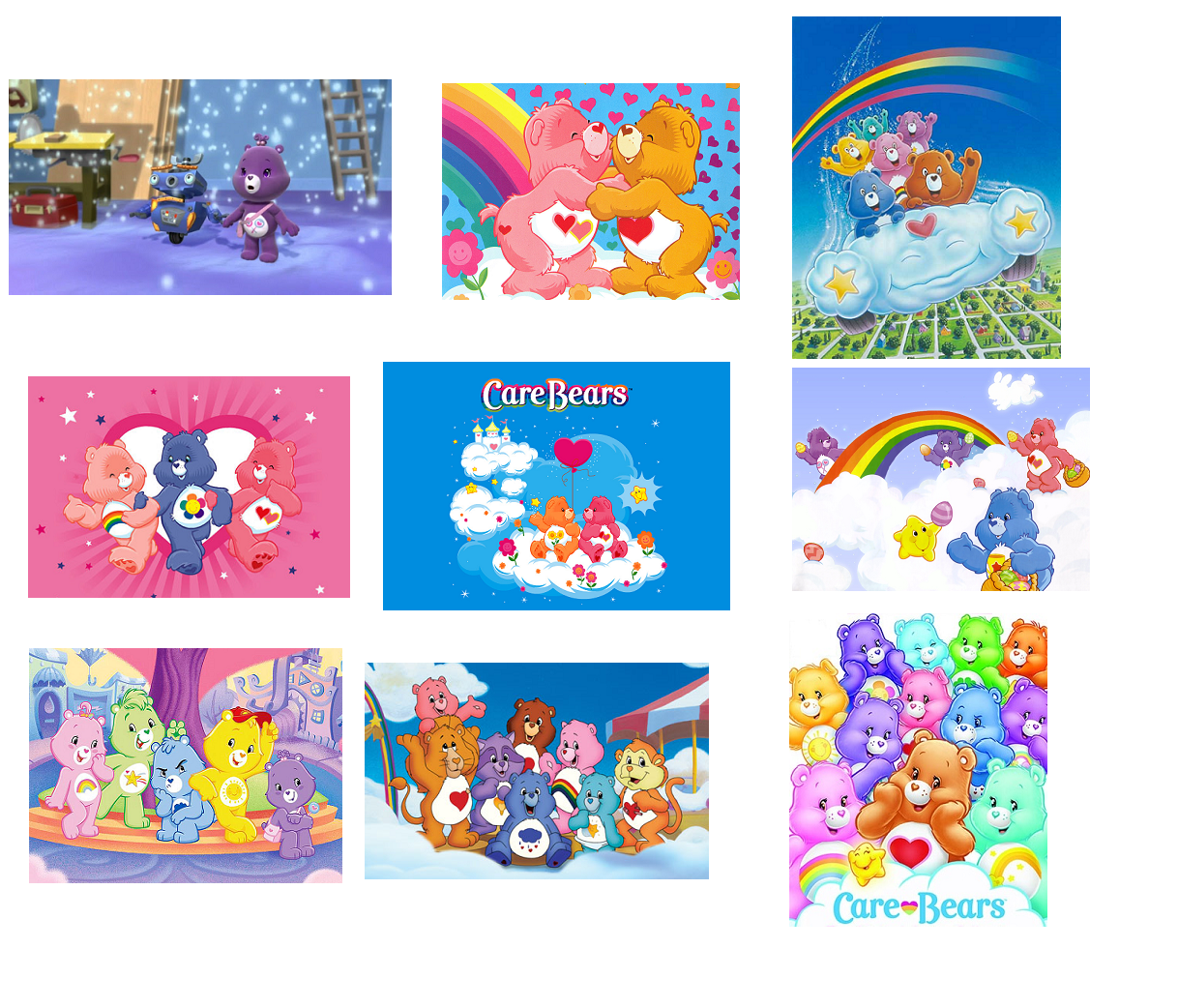 9 Care Bears Inspired Stickers, Party Supplies, Decorations, Labels, Favors - $8.99