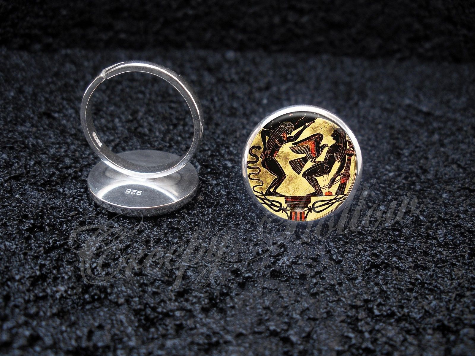 Primary image for 925 Sterling Silver Adjustable Ring Greek Mythology Prometheus Liver Eaten