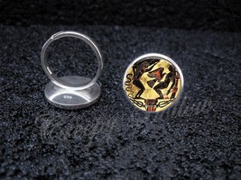 925 Sterling Silver Adjustable Ring Greek Mythology Prometheus Liver Eaten - $34.65