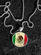 Mexican Flag Mexico Bandera de México Pendant Necklace - $14.00+