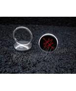 925 Sterling Silver Adjustable Ring Sigil of Saturn Azazel Satanel Lucifer - $34.65