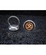 925 Sterling Silver Adjustable Ring Om Symbol Meditation - $34.65