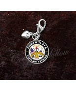 Sterling Silver Charm Vietnam Veteran Proud Choose Family - $30.50