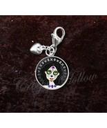Sterling Silver Charm Sugar Skull Girl Dia De Los Muertos - $30.50