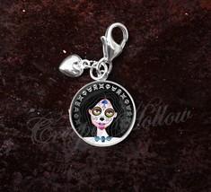 Sterling Silver Charm Sugar Skull Girl Dia De Los Muertos image 9
