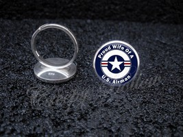Air Force Airman Proud Choose Family Member 925 Sterling Silver Ring - $39.00