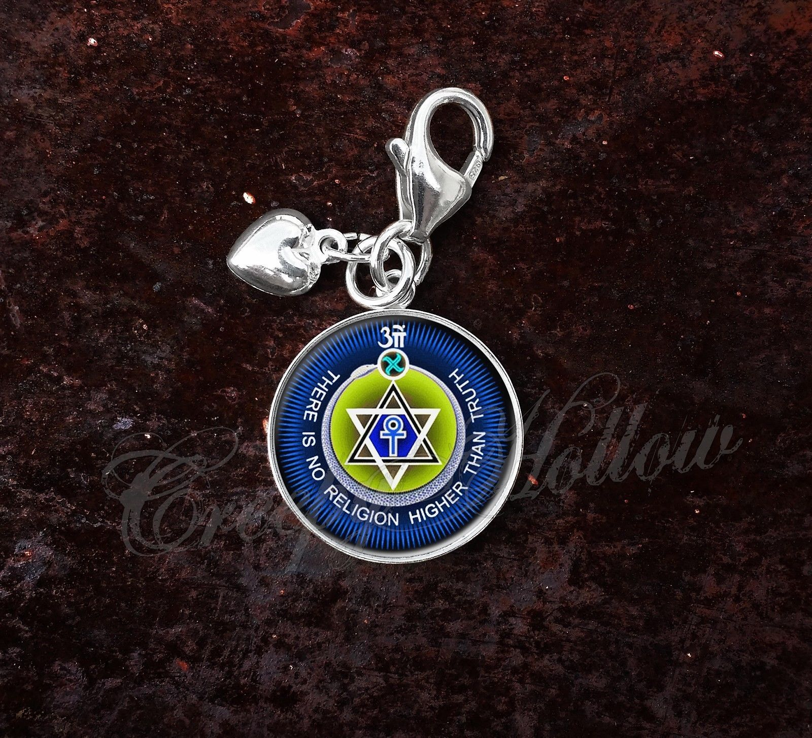 Primary image for 925 Sterling Silver Charm No Religion Higher Than Truth Theosophy