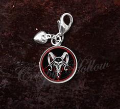 925 Sterling Silver Charm Baphomet Pentagram Devil Satanism - $25.25