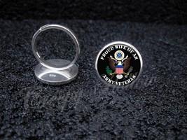 Army Veteran Proud Choose Family Member 925 Sterling Silver Ring - $39.00