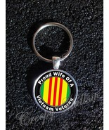 Vietnam Veteran Proud Choose A Family Member Image Keychain - $14.00