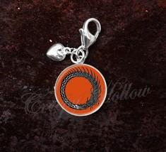 925 Sterling Silver Charm Ouroboros Uroborus Norse Dragon Serpent - $25.25