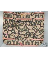 Quilted Cotton French Country Black w/Pink Paisley Bag Tote PURSE NWT MS... - $48.99