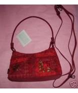 Red Cotton Print Log Cabin Handbag by Donna Sharp NWT - $19.29