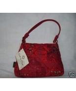 Red Cotton Log Cabin Petite Handbag Donna Sharp NWT - $14.59
