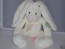 "RUSS BERRIE 12"" White Bunny w/Long Lopp Ears NWT MINT - $17.35"