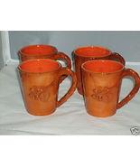 Ceramic Bittersweet 4 Coffee Mugs Demdaco NEW MINT - $42.73
