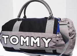 NEW! Black-Grey-White [TOMMY HILFIGER] LARGE Duffle Travel Carry-On Bag ... - $1.713,06 MXN